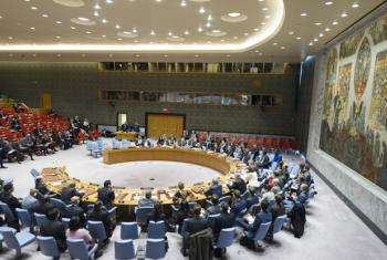 A wide view of the Security Council Chamber