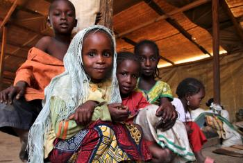 Central African Republic (CAR) refugee children at the transit camp in Gara Boulai, eastern Cameroon.