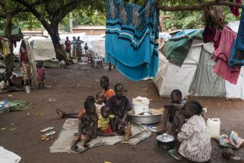 Over 9,000 displaced people seeking a safe place to stay have moved into the church compound in Wau, South Sudan.