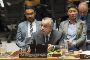 Zahir Tanin, Special Representative of the Secretary-General and Head of the United Nations Interim Administration Mission in Kosovo (UNMIK), briefs the Security Council.