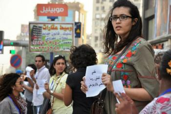 Inspired by snowballing social media discussions on sexual harassment in Egypt, a group of independent activists took the conversation to an offline public. They aimed to build support in Cairo and beyond, using the most simple of approaches: the country'