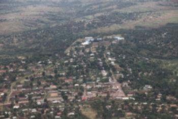 An aerial view of the town of Kananga in DRC's Kasaï-Central province outside which the remains of the two experts were found. (File)