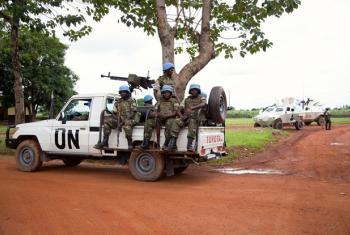 A MINUSCA patrol in Bangui, Central African Republic (CAR).