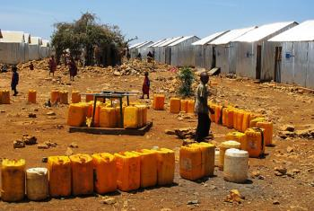 Pictured, internally displaced peoples in Baidoa, Somalia.