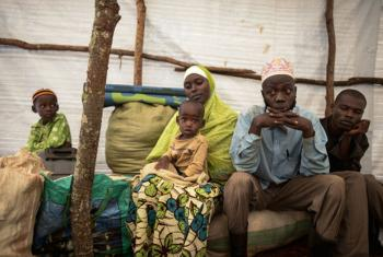At Ndutu refugee camp in Tanzania, Abdul Yamuremye in his tent with his wife Hadija Umugure and their family fled violence in Burundi after their house had been attacked killing Abdul's two brothers, a friend who stayed with them and her three children.