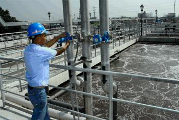 A wastewater treatment facility in Manila, the Philippines.