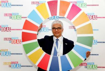 Ashok Sridharan, Lord Mayor of the City of Bonn at the Global Festival of Ideas for Sustainable Development at the World Conference Center (WCC) in Bonn, March 01, 2017.