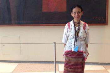 Angelina Baltazar-Ortiz at UN Headquarters.