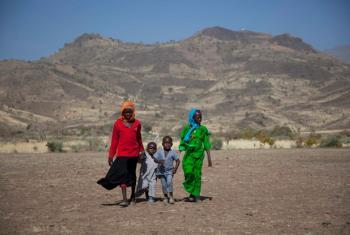 Children in Jawa village, in East Jebel Marra (South Darfur).