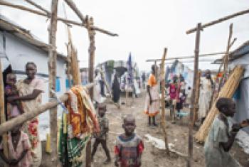 Crowded living conditions at the UN Protection of Civilians site, Malakal, South Sudan.