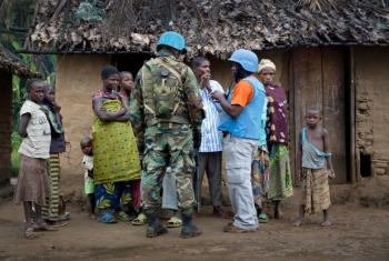 Peacekeepers with the UN Organization Stabilization Mission in the Democratic Republic of the Congo (MONUSCO) on patrol. UN File Photo/Sylvain Liechti