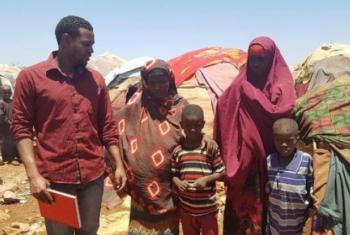 Displaced Somalis at Liiban settlement in Baidoa in the southern-central area of the country.
