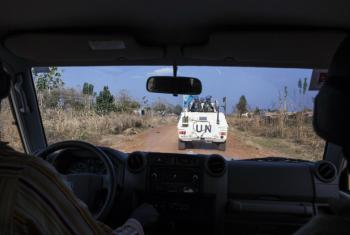 UN peacekeepers on patrol in conflict-affected areas near Pajok in Eastern Equatoria State in South Sudan.