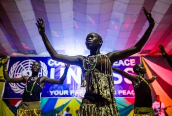 Comedy for Peace event in Juba.