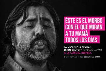 Poster of the campaign #NoEsDeHombres