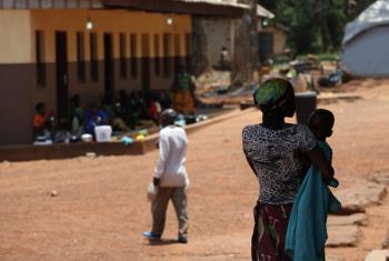 A woman holds a child in Bambari, a town in Ouaka prefecture in Central African Republic. (file photo)