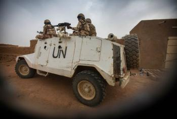 MINUSMA peacekeepers patrol the streets of Kidal, Mali.