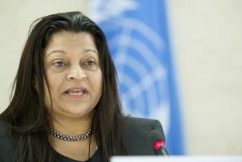 Sheila Keetharuth, Special Rapporteur on the situation of human rights in Eritrea, where journalists including Dawit Isaak were detained illegally during a political crackdown in 2001.