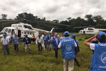 Members of the UN Security Council visited Colombia earlier this year.  File
