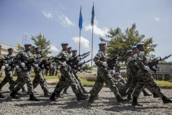Commemoration Ceremony and Parade on the occasion of the International Day of United Nations Peacekeepers. The event was held in Juba, South Sudan at the Headquarters of the United Nations Mission in South Sudan (UNMISS) - 2016. UN File Photo/JC McIlwaine