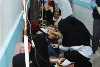 WHO responding to the cholera outbreak in Yemen.