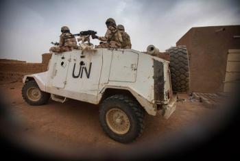 MINUSMA peacekeepers patrol the streets of Kidal, Mali.