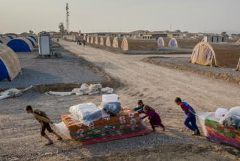 A camp for Mosul residents displaced by fighting in the northern Iraqi city.