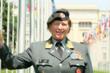 Major General Kristin Lund at the UN in Geneva.