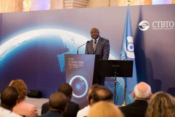 Executive Secretary of the CTBTO, Lassina Zerbo, addressing the Science and Technology Conference 2017.