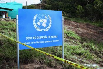 Weapons collection site of United Nations Mission in Colombia.