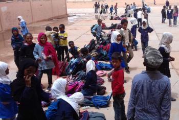 Handover of Obari Al Markazeia School rehabilitated by the UNDP Stabilization Facility for Libya.