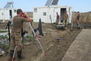 British engineers working at the UN peacekeeping mission in South Sudan (UNMISS).