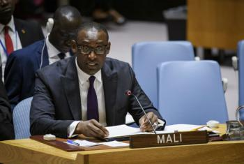 Abdoulaye Diop, Minister for Foreign Affairs and International Cooperation of the Republic of Mali, addresses the Security Council meeting on the situation in his country.