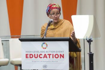 Deputy Secretary-General Amina Mohammed addresses the General Assembly High-level Action Event on Sustainable Development Goal 4: Ensure inclusive and quality education for all and promote lifelong learning.