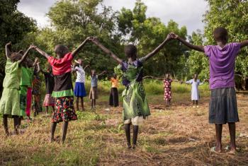 Girls in Nyal, South Sudan.