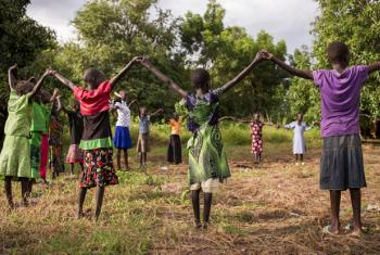 Girls in Nyal, South Sudan.