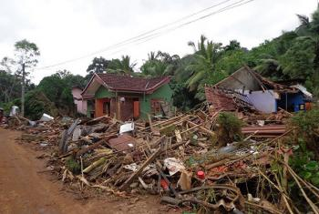 In the wake of Cyclone Mora, flood waters flattened many homes in this village in Kalutara, Sri Lanka.