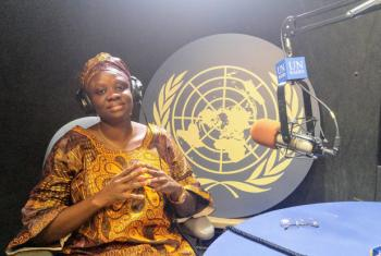 Sylvia Blyden, Minister of Social Welfare, Gender and Children Affairs in Sierra Leone. UN News/Elizabeth Scaffidi