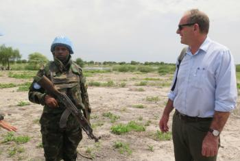 UNMISS head David Shearer in Aburoc to assess UN peacekeeping contribution.