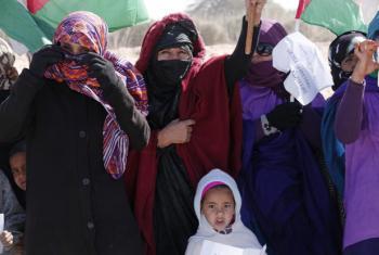 Sahrawi refugees at the Smara Refugee Camp outside of Tindouf, Algeria.