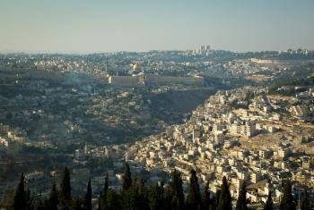 A bird's eye view of Jerusalem.