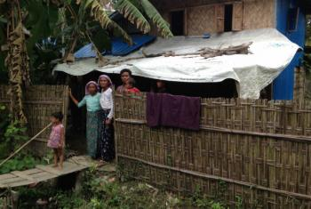 Members of the displaced Rohingya community in Myanmar.