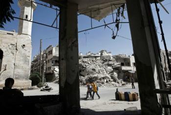 Idlib in north-west Syria.