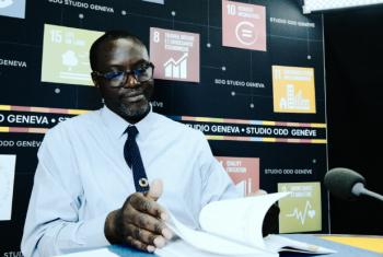 About 8.5 per cent of Africa's economy comes from tourism and the figure is set to grow, according to Junior Davis from the UN trade agency UNCTAD, pictured in the SDG Studio Geneva.