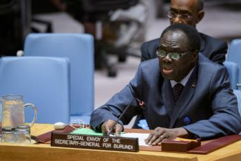Michel Kafando, Special Envoy of the Secretary-General for Burundi, addresses the Security Council on the situation in Burundi.
