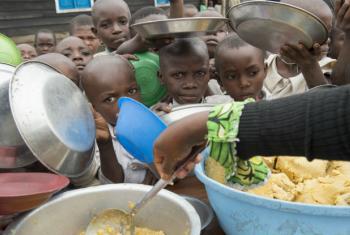 Children at the IDP camp in Kitchanga, North Kivu, DRC.