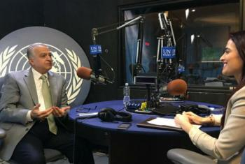 ESCWA Executive Director, Mohamed Ali Alhakim, speaks to May Yaacoub in the UN Radio studio.