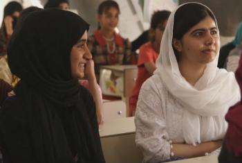 In her first visit to the Kurdistan region of Iraq, Nobel Peace Prize winner, Malala Yousafzai met displaced children at a tent school in Hasansham U3 camp to highlight their needs and their right to access education.