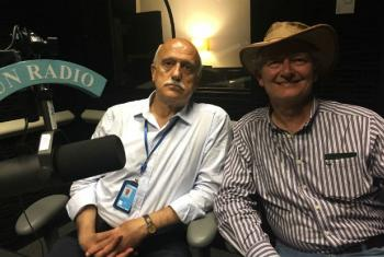 Arab Hoballah, executive director of SEED (left) and Geoff Green, founder of Green Acre Living.