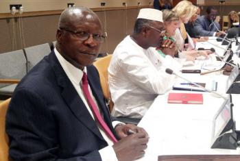Lord Justice Bart Magunda Katureebe, Uganda's Chief Justice, addresses high Level meeting on Women's Access to Justice at UN Headquarters. UN News/Elizabeth Scaffidi
